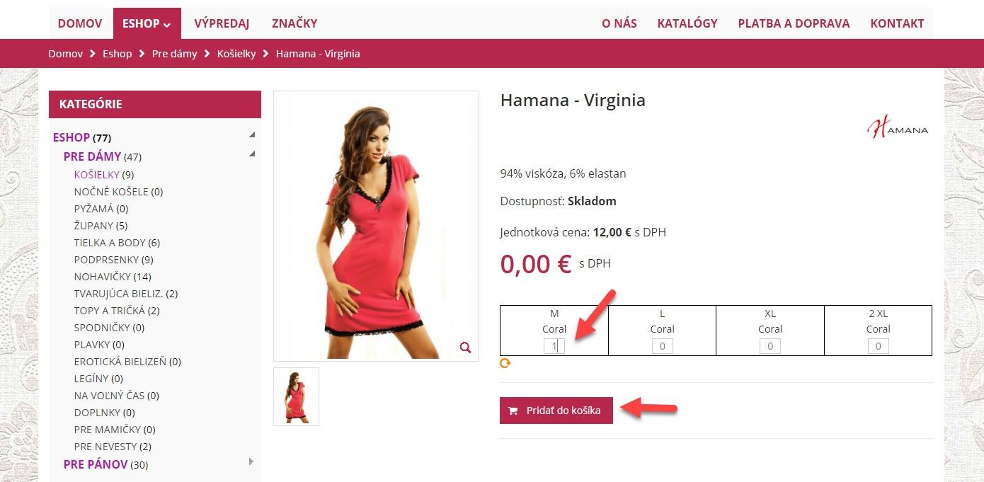 Ako nakupovať 2. krok