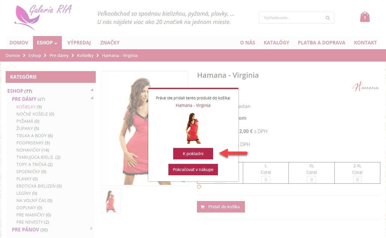 Ako nakupovať 3. krok